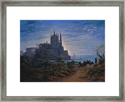Gothic Church On A Rock By The Sea Framed Print by Celestial Images