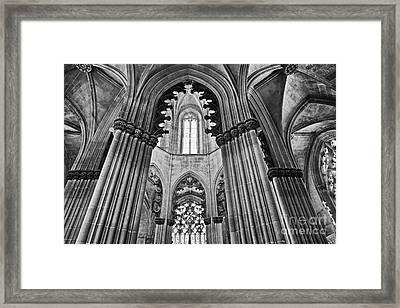 Gothic Columns Framed Print by Jose Elias - Sofia Pereira