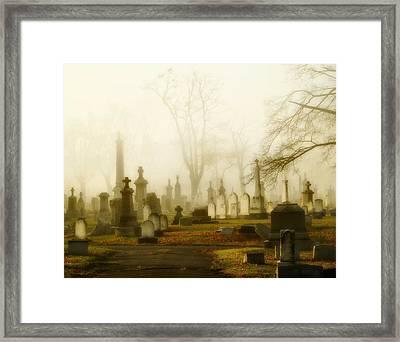 Gothic Autumn Morning Framed Print