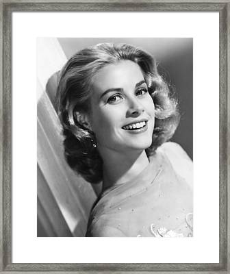 Grace Kelly, Mgm Portrait, Mid-1950s Framed Print by Everett
