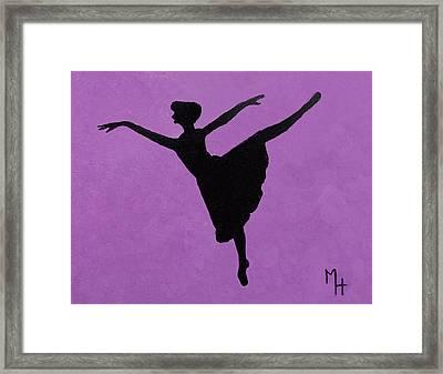 Graceful Arabesque Framed Print
