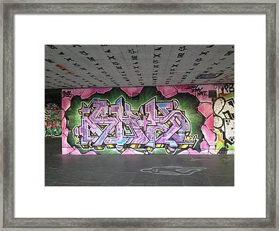 Graffiti Southbank Framed Print by Maeve O Connell
