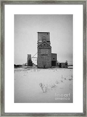 grain elevator Kamsack Saskatchewan Canada Framed Print