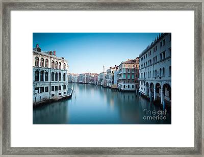 Grand Canal At Sunrise Venice Italy Framed Print by Matteo Colombo