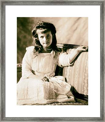 Grand Duchess Anastasia Nikolaevnav 1909 Framed Print