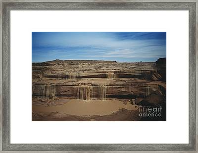 Grand Falls Of The Little Colorado Framed Print by Mark Newman