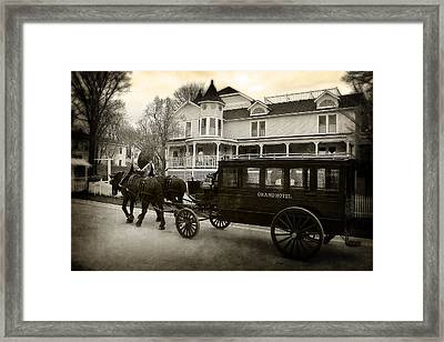 Grand Hotel Taxi Framed Print by Scott Hovind
