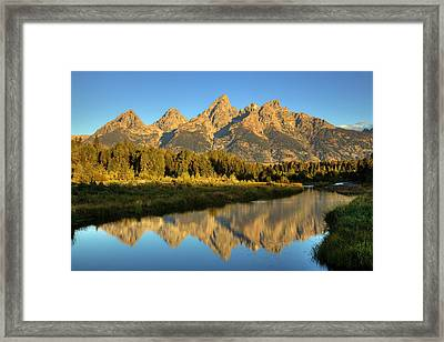Framed Print featuring the photograph Grand Teton by Alan Vance Ley