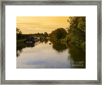 Grand Union Canal In Berkhampsted Framed Print by Louise Heusinkveld