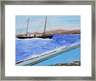 Grandpa's Boat Framed Print by Bill Hubbard
