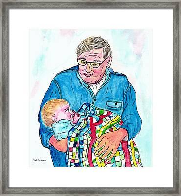 Grandpas Bundle Of Joy Framed Print