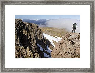 Granite Cliffs, Scotland Framed Print