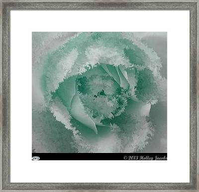 Granny's Rose Teal Framed Print by Holley Jacobs