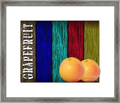 Grapefruit Framed Print by Marvin Blaine