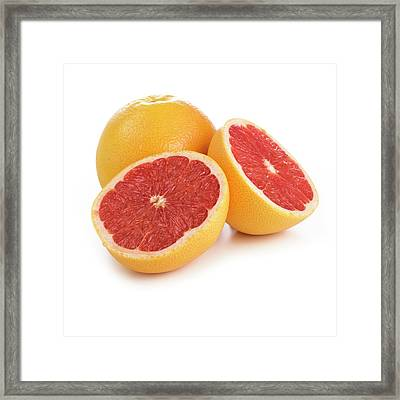 Grapefruit Framed Print by Science Photo Library