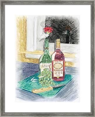 Grapes N Flowers Framed Print by Susan Schmitz