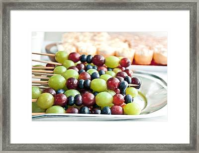 Grapes Framed Print by Tom Gowanlock