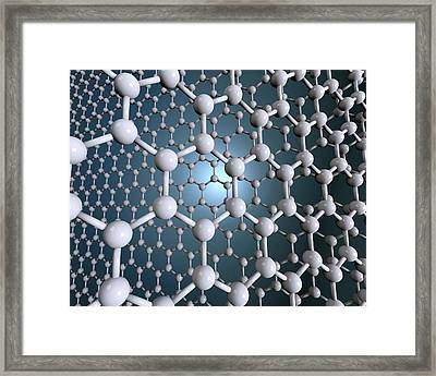 Graphene Sheets Framed Print by Robert Brook