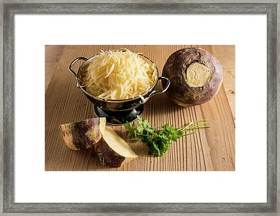 Grated Swede Framed Print by Aberration Films Ltd