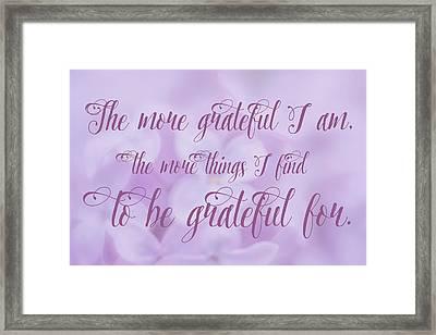 Gratitude Framed Print by Ramona Murdock