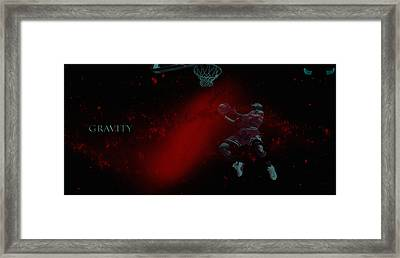 Framed Print featuring the mixed media Gravity by Brian Reaves