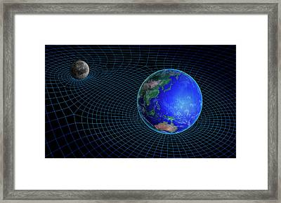 Gravity In Outer Space Framed Print by Andrzej Wojcicki