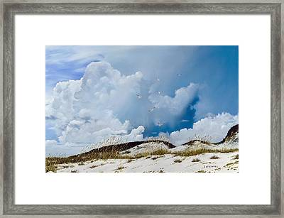 Framed Print featuring the painting Grayton Beach by Rick McKinney