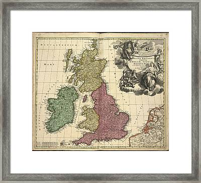 Great Britain And Ireland Framed Print by British Library