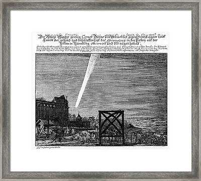 Great Comet Of 1680 Framed Print by Cci Archives