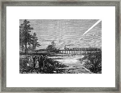 Great Comet Of 1882 Framed Print by Royal Astronomical Society/science Photo Library
