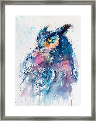 Great Horned Owl Framed Print by Kovacs Anna Brigitta