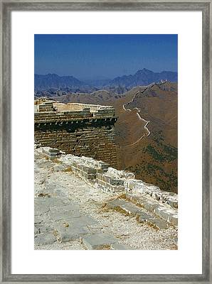 Framed Print featuring the photograph Great Wall Of China by Henry Kowalski
