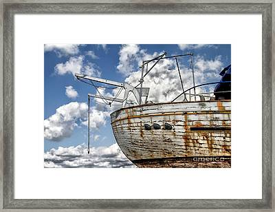 Greek Fishing Boat Framed Print by Stelios Kleanthous