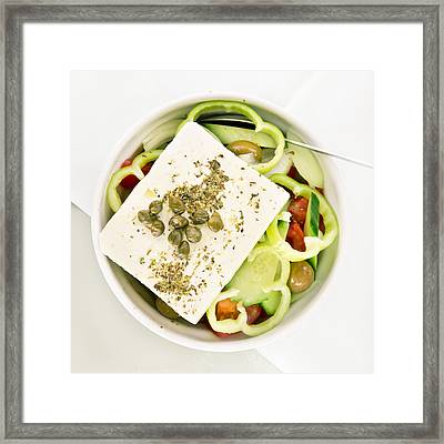 Greek Salad Framed Print by Tom Gowanlock