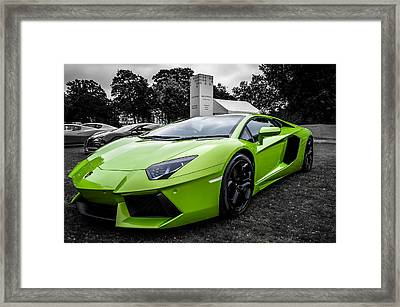 Green Aventador Framed Print by Matt Malloy