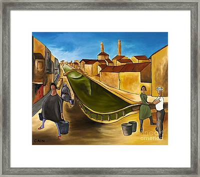 Green Canals  Framed Print by William Cain