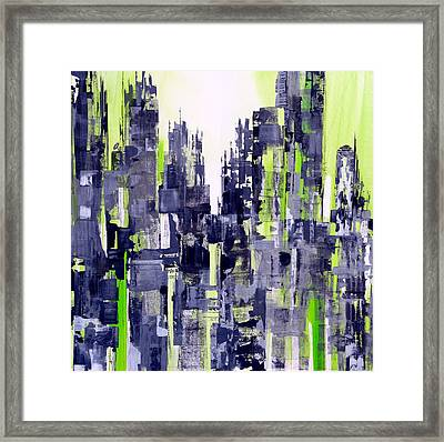 Green City Framed Print by Katie Black