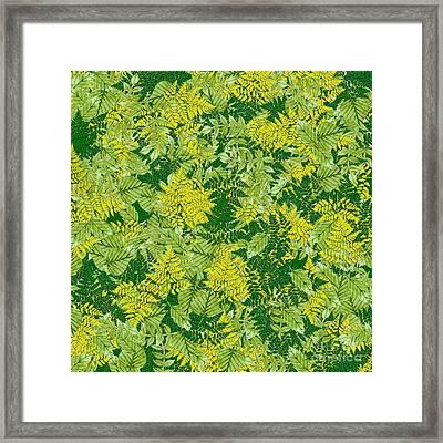 Green Foliage Framed Print