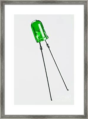 Green Led Framed Print by Martyn F. Chillmaid