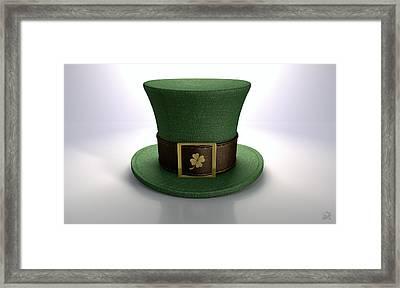 Green Leprechaun Shamrock Hat Framed Print by Allan Swart