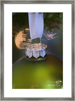 Green Ornament Hanging In Tree Framed Print by Birgit Tyrrell