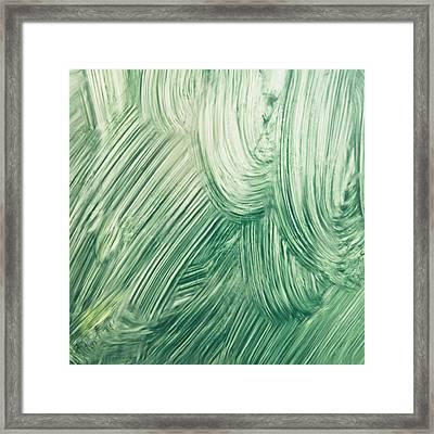 Green Paint Framed Print by Tom Gowanlock