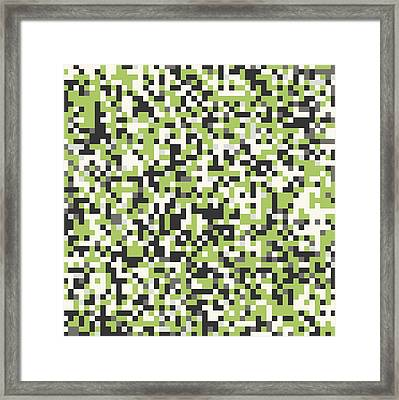 Framed Print featuring the digital art Green Pixel Art by Mike Taylor
