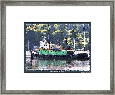 Framed Print featuring the photograph Green Tug by Kenneth De Tore