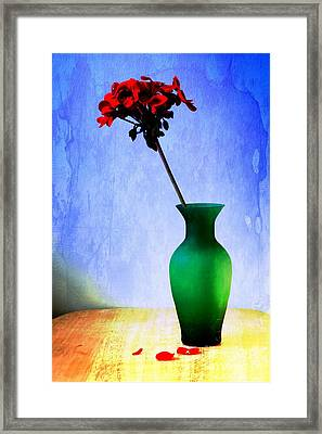 Green Vase Framed Print by Donald Davis