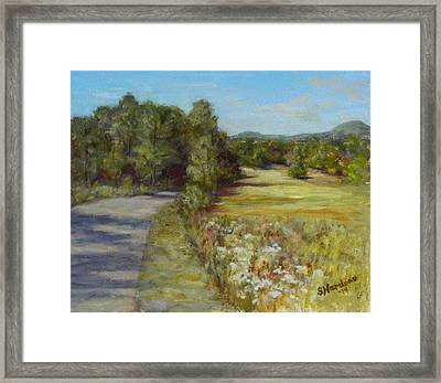 Framed Print featuring the painting Greenville Road by Sandra Nardone