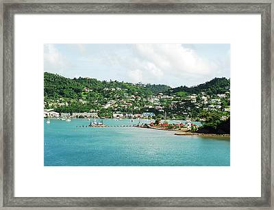 Grenada, St George, View Over Carenage Framed Print by Anthony Asael