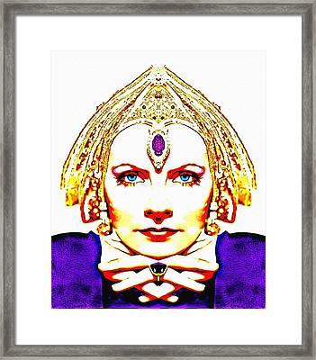 Greta Garbo Alias In Mata Hari Framed Print by Art Cinema Gallery