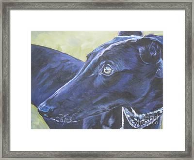Greyhound Framed Print by Lee Ann Shepard