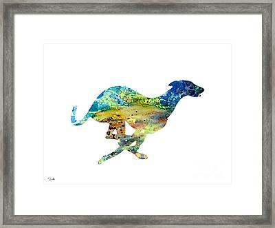 Greyhound  Framed Print by Luke and Slavi